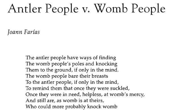 Antler People v. Womb People