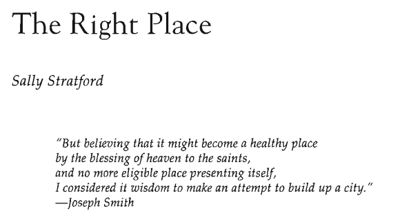 The Right Place