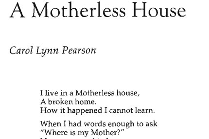 A Motherless House