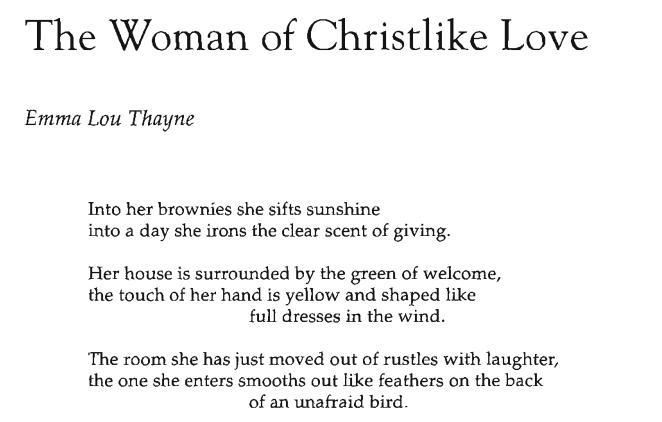 The Woman of Christlike Love