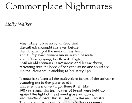 Commonplace Nightmares