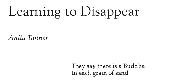 Learning to Disappear