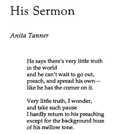 His Sermon