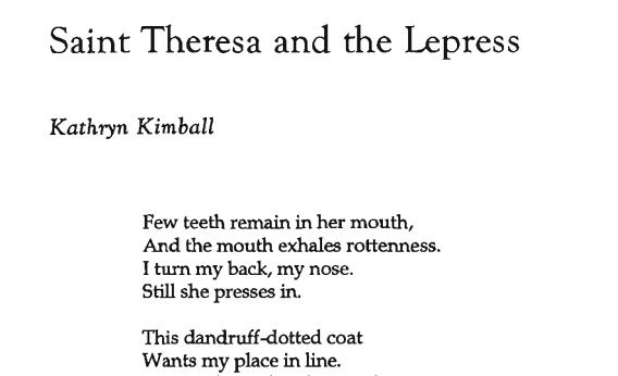 Saint Theresa and the Lepress