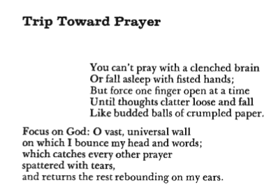 TRIP TOWARD PRAYER