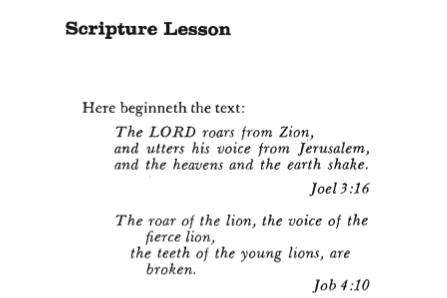 SCRIPTURE LESSON