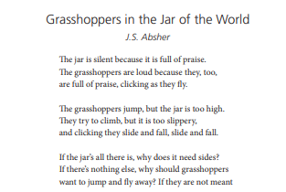 Grasshoppers in the Jar of the World